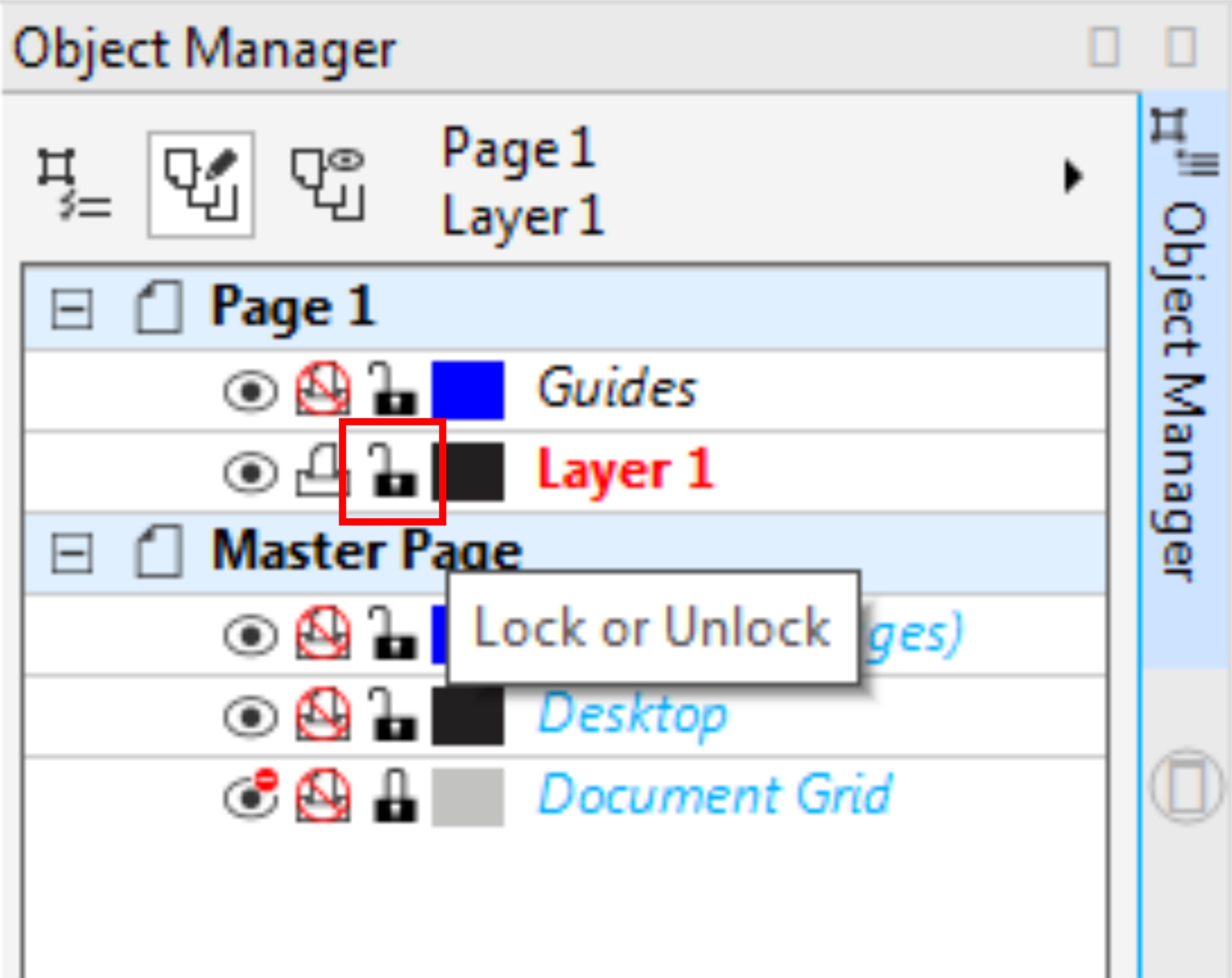 Object Manager Lock