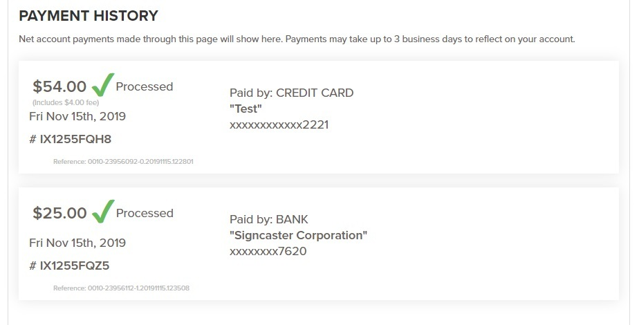 Payments 5