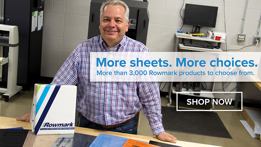 Rowmark Sheet, More Choices