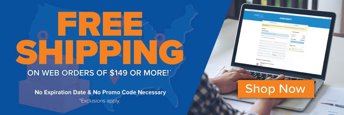 Free Shipping on online orders over $149